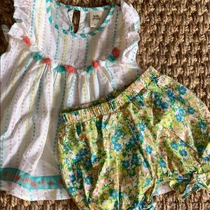 Wildflowers top and bloomers size 4
